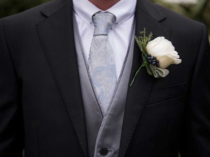Tom with his buttonhole