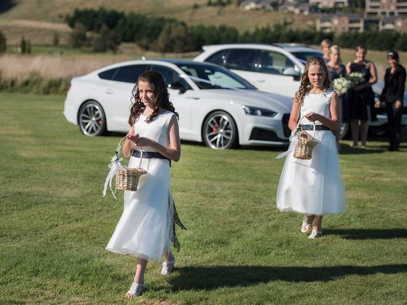 Flower girls at Maddy and Toms wedding