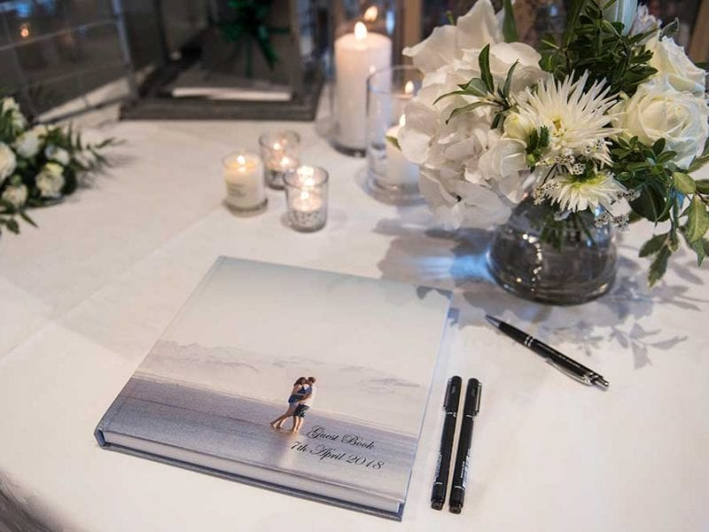 Maddy and Tom's wedding book