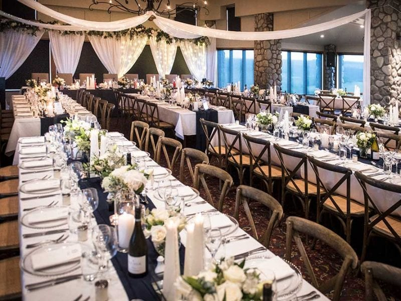 Wedding venue styling by Kim Chan Events