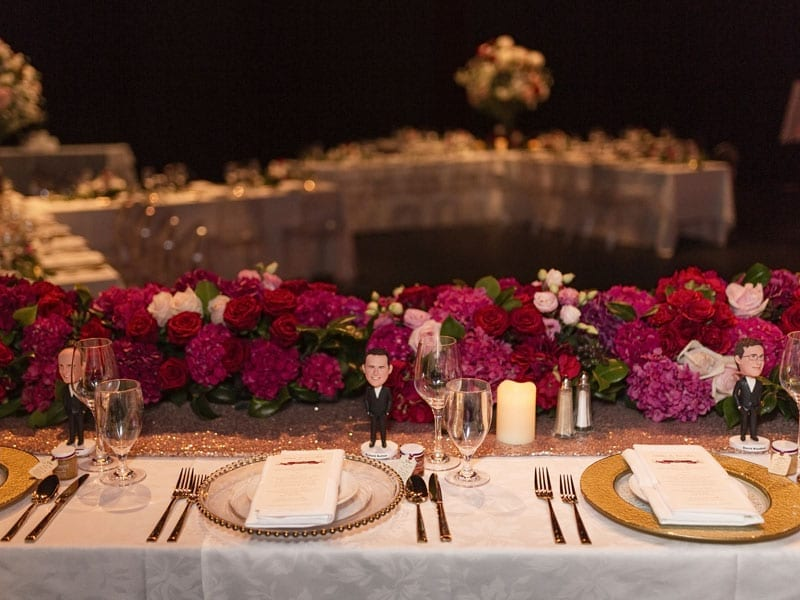 Wedding table decorations by Kim Chan Events
