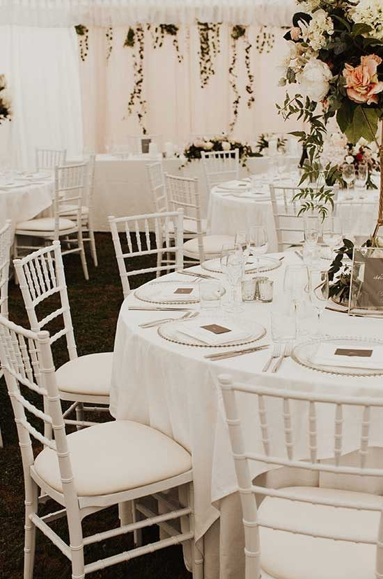 Marquee styling by Kim Chan Events