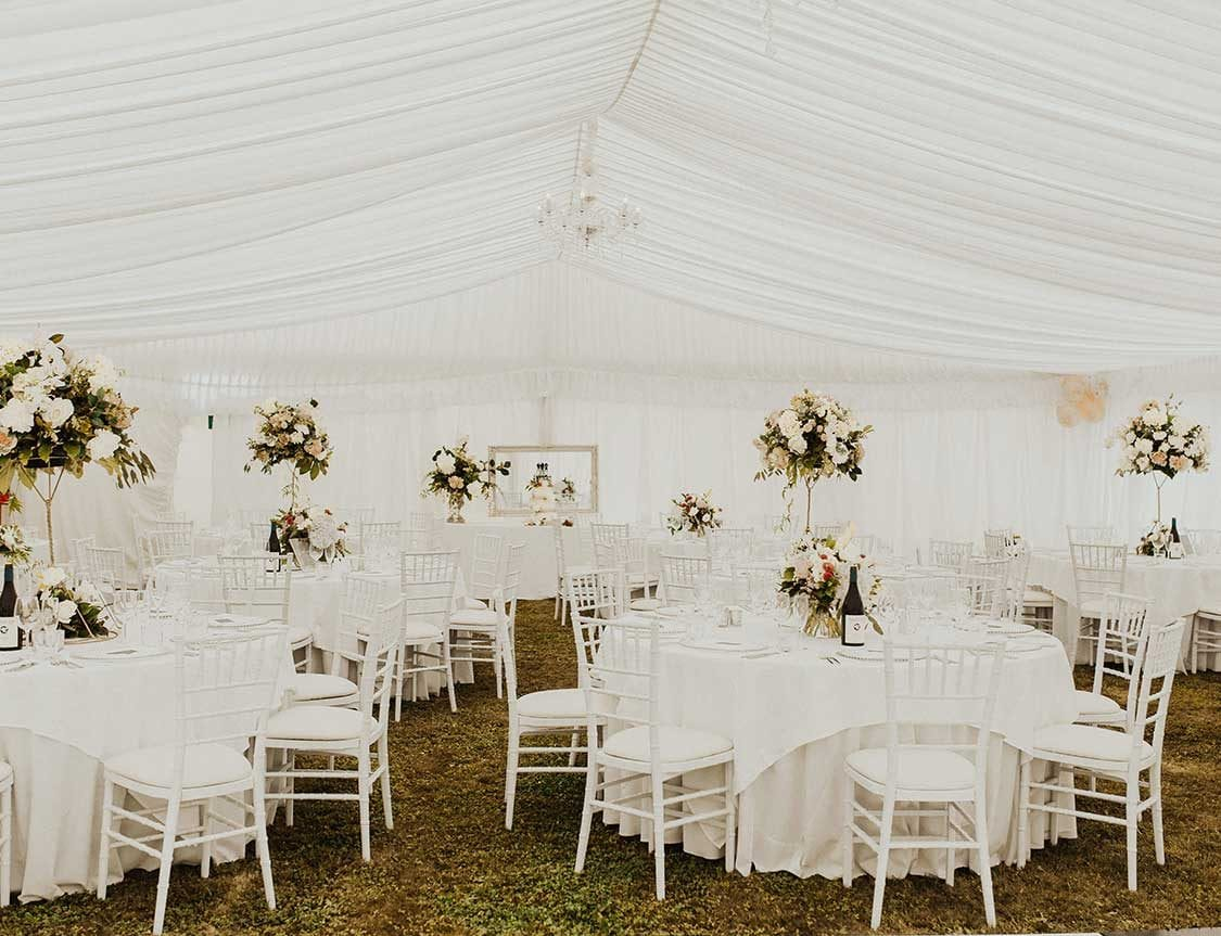 Wedding marquee styling