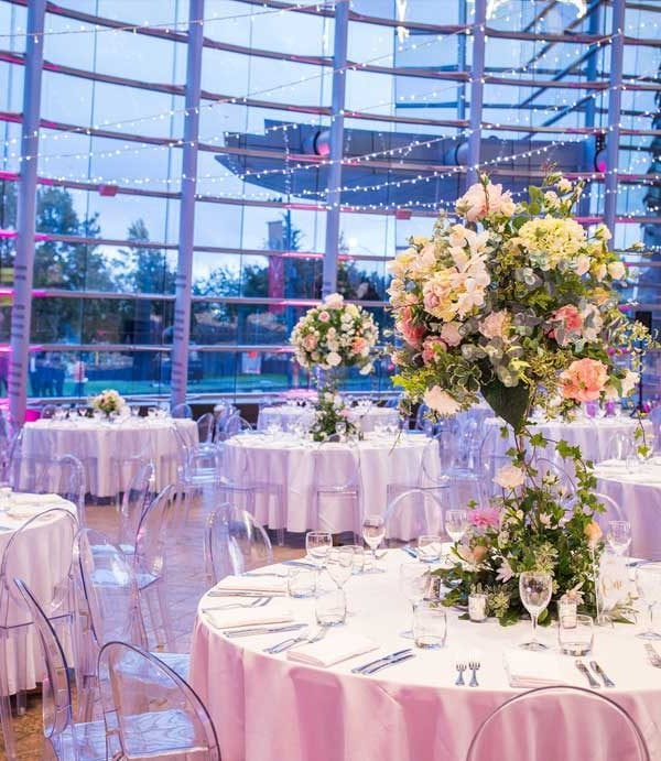 Wedding flowers and feature pieces