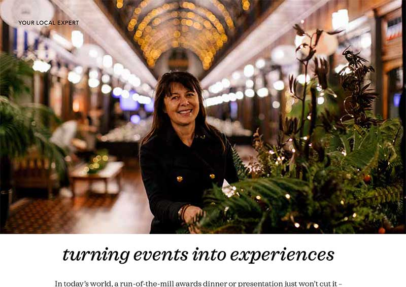 Kim Chan Events as featured in Latitude Magazine 2019