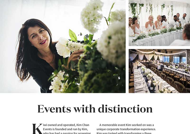 Kim Chan Events as featured in Avenues Magazine