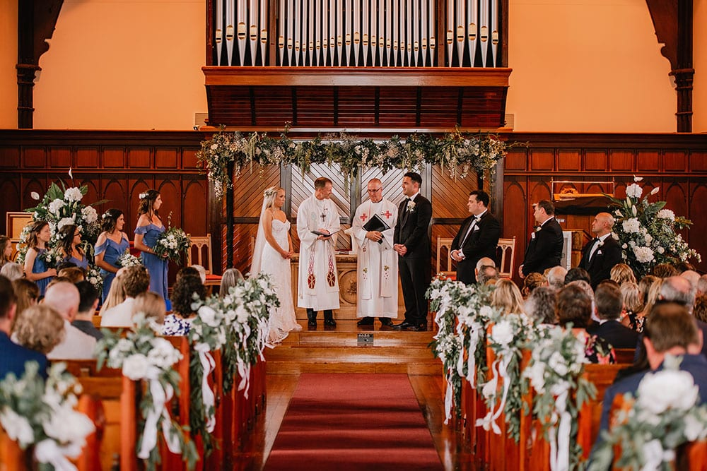 Ben and Claire's church wedding - styling by Kim Chan Events